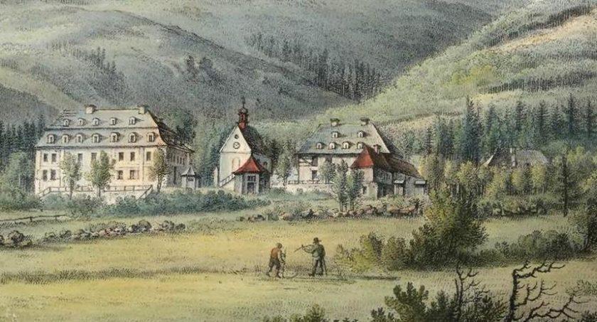 Pijalnia wody w roku 1830