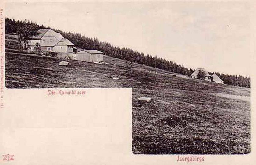 1895-1905 Kammhauser, przysiólek wsi Gross Iser, po lewej gospoda Iserkammbaude