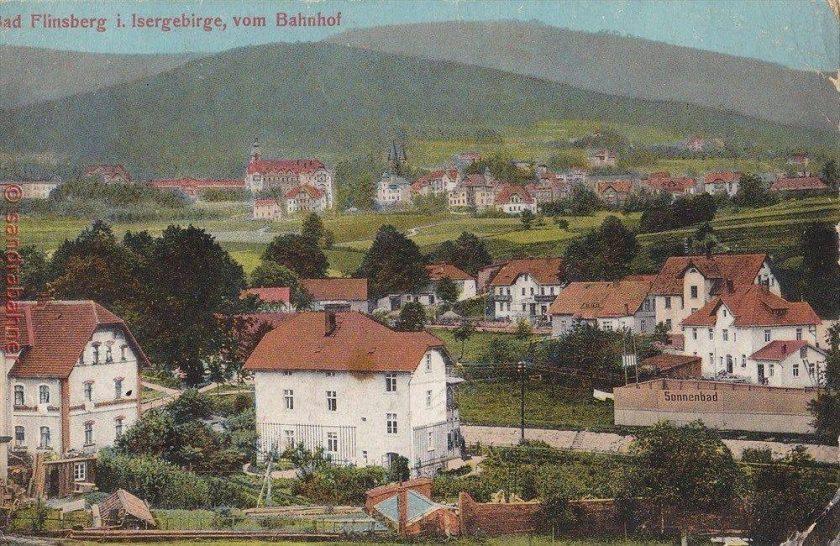 1916 widok ze stacji kolejowej