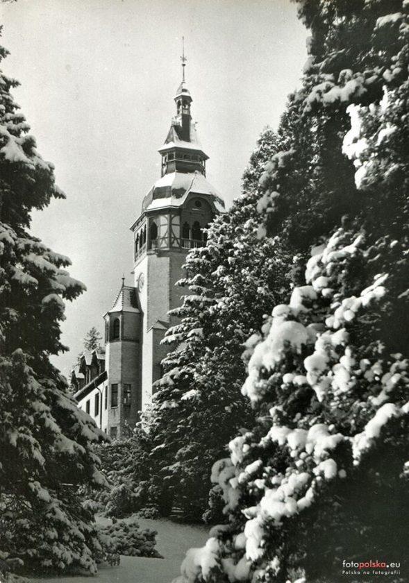 Wieża Domu Zdrojowego w zimie 1958 roku