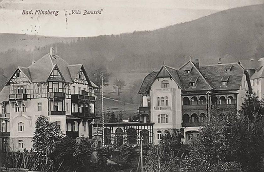 1920-1930 od lewej willa Asra i willa Borussia, Park Hotel.jpg