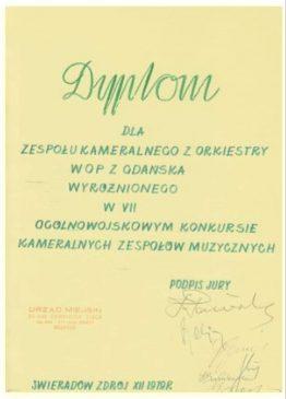 Przegląd orkiestr wojskowych 1979r