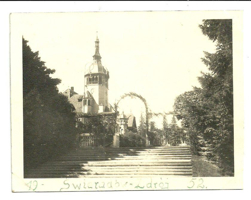 Wejście na Taras Domu Zdrojowego w 1952 roku